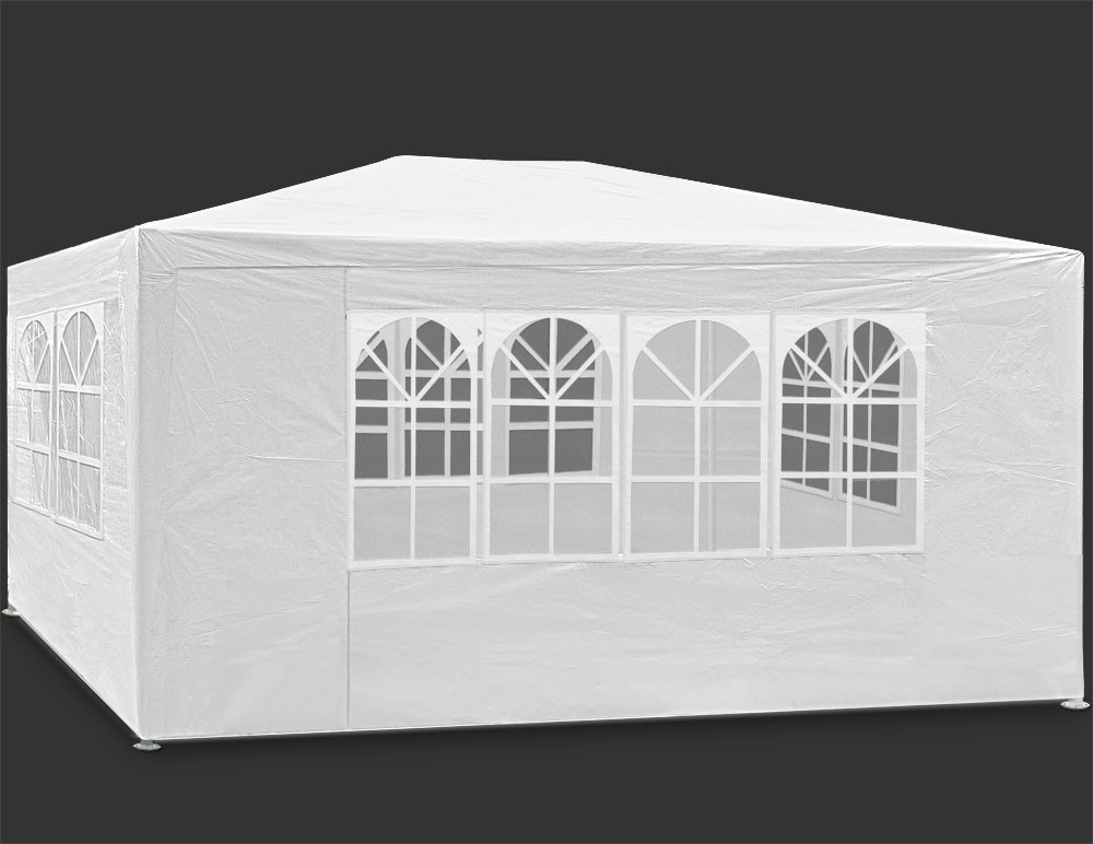 Carpa gazebo de 3x4 con laterales. Desmontable. Ecónomica. Color blanco