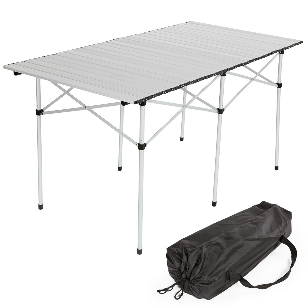 Mesa plegable enrollable grande for Mesa plegable camping